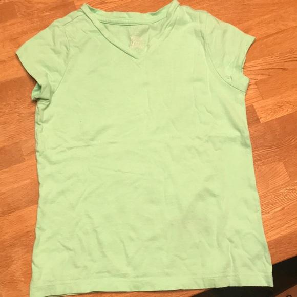 c4a7d9c29 Faded Glory Shirts & Tops | Girls Mint Green Vneck Tshirt Size M78 ...